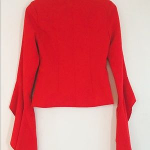 Missguided Jackets & Coats - Missguided ♥️ Red Blazer with Amazing Sleeves